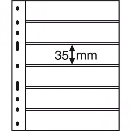 Leuchtturm * 10 hojas OPTIMA por billetes, 6 divisiones, negro