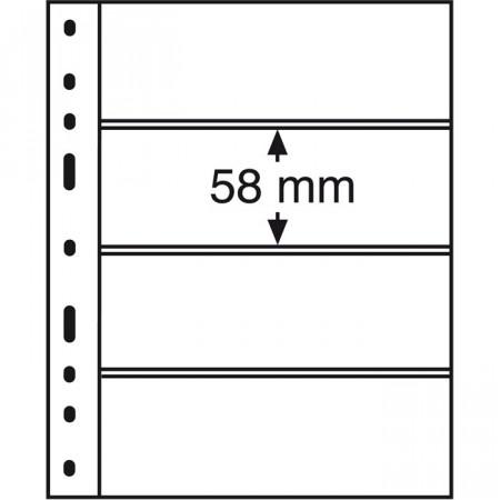 Leuchtturm * 10 hojas OPTIMA por billetes, 4 divisiones, transparentes
