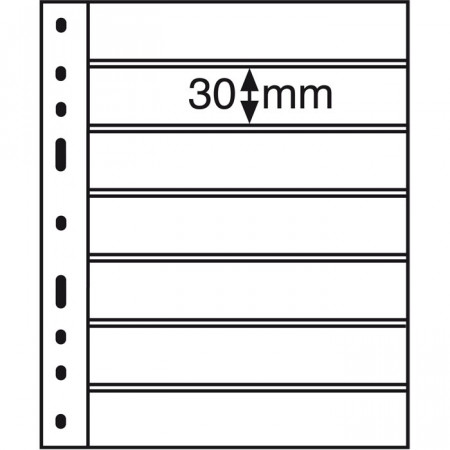 Leuchtturm * 10 hojas OPTIMA por billetes, 7 divisiones, negro