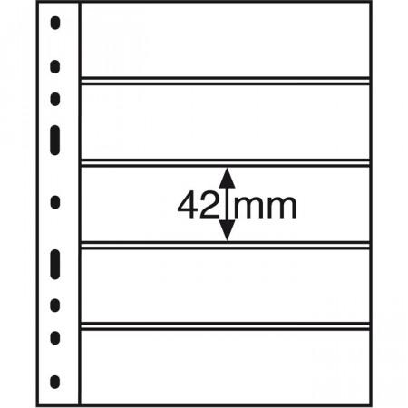 Leuchtturm * 10 hojas OPTIMA por billetes, 5 divisiones, negro