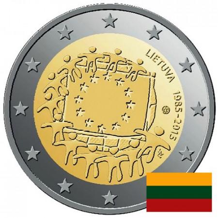 """2015 * 2 Euro LITUANIA """"30 Aniversario de La Bandera Europea"""""""