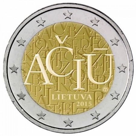 """2015 * 2 Euro LITUANIA """"Idioma Lituano"""" UNC"""