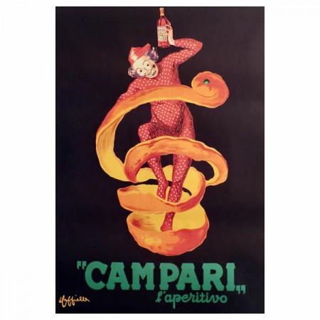 """Anni '50 * Cartel Publicitario Original """"Campari l'Aperitivo - Leonetto Cappiello"""""""