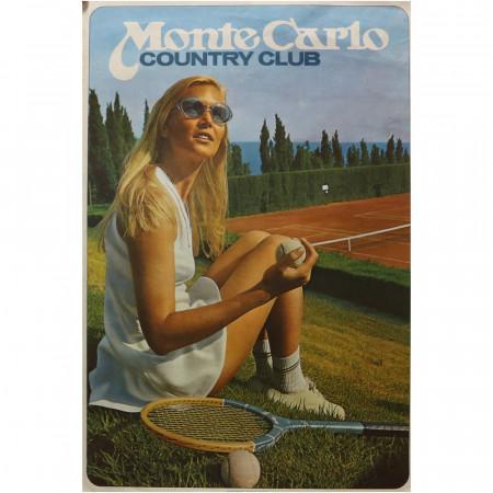 "1980 ca * Cartel Publicitario Original ""Monte Carlo Country Club - IMPRIMERIE MONEGASQUE"""