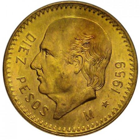 1959 * 10 pesos Mexico oro Miguel Hidalgo y Costilla