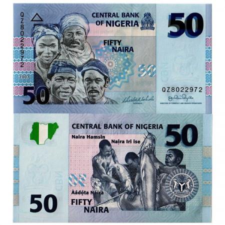 2007 * Billete Nigeria 50 Naira (p35b) SC