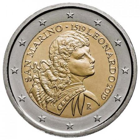 "2019 * 2 Euro SAN MARINO ""500° Muerte Leonardo da Vinci"" FDC"
