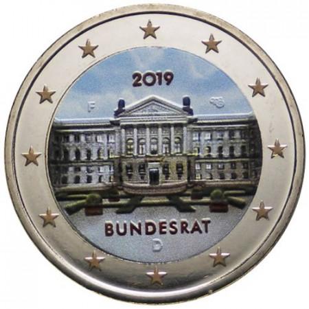 """2019 * 2 Euro ALEMANIA """"70º Aniversario del Bundesrat Alemán"""" Colorid"""