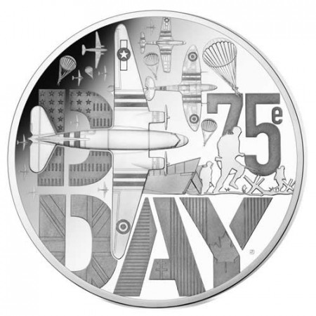 """2019 * 10 Euro FRANCIA """"D-Day"""" PROOF"""
