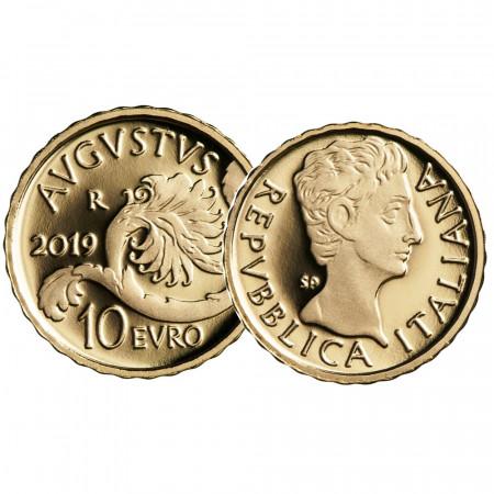 "2019 * 10 Euro Oro ITALIA ""Emperadores Romanos - Augusto"" PROOF"