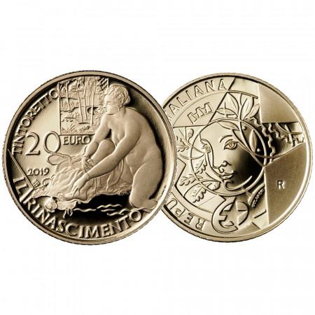 "2019 * 20 Euro Oro ITALIA ""500 Aniversario Del Nacimiento De Tintoretto - Serie Del Programa Europa Star - Renacimiento"" PROOF"