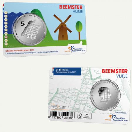 """2019 * 5 Euro PAISES BAJOS """"Beemster - 20 Aniversario del Patrimonio De La UNESCO"""" FDC"""