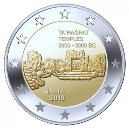 "2019 * 2 Euro MALTA ""Templos de Ta' Ħaġrat"" UNC"