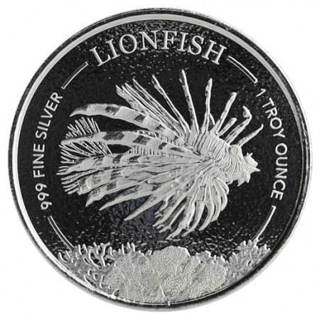 "2019 * 1 Dollar Plata 1 OZ Barbados ""Lionfish"" FDC"
