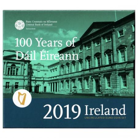 "2019 * IRLANDA Cartera Oficial Euro ""Centenario del Primer Parlamento de Irlanda"" FDC"