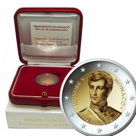 """2019 * 2 Euro MONACO """"200º Aniversario de la Llegada al Trono del Príncipe Honorato V"""" PROOF"""