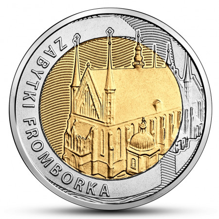 """2019 * 5 Zlotych Polonia """"Monuments of Frombork"""" UNC"""