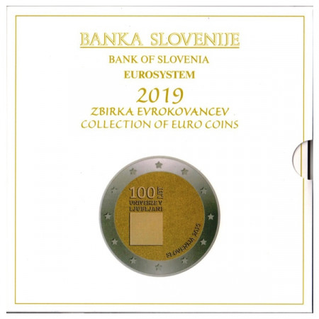 2019 * ESLOVENIA Cartera Oficial EuroSet FDC
