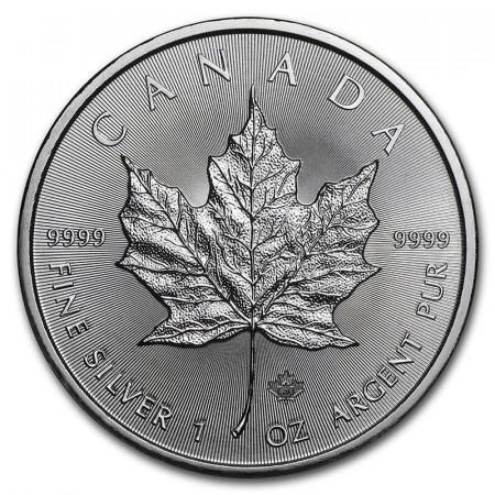 "2020 * 5 Dólars Plata 1 OZ Canadà ""Hoja de Arce - Maple Leaf"" FDC"