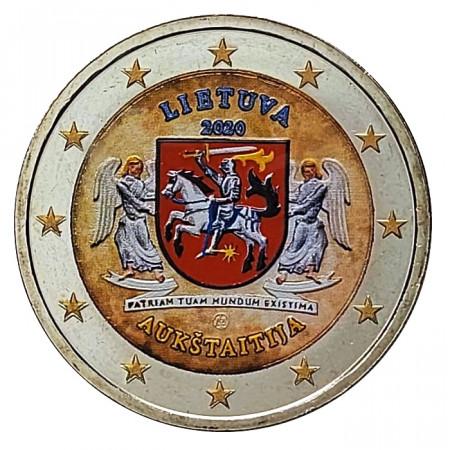 """2020 * 2 Euro LITUANIA """" Regiones Lituanas - Aukštaitija"""" Colorido"""