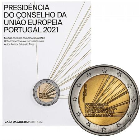 """2021 * 2 Euro PORTUGAL """"Presidencia de la Unión Europea"""" Coincard FDC"""