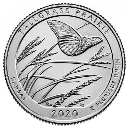 "2020 * Cuarto de Dólar (25 Cents) Estados Unidos ""National Park - Tallgrass Preserve, Kansas"" UNC"