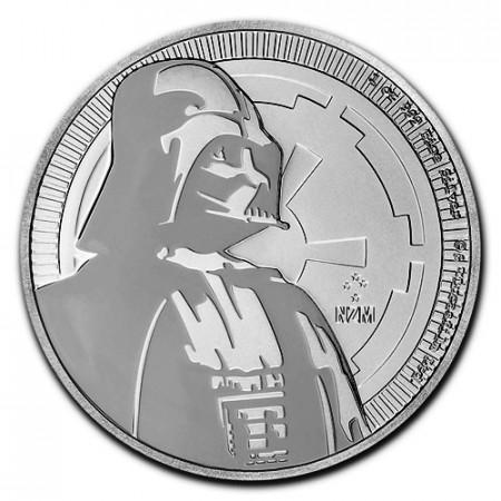 "2017 * 2 Dólars Plata 1 OZ Niue - Nueva Zelanda ""Star Wars - Darth Vader"" FDC"