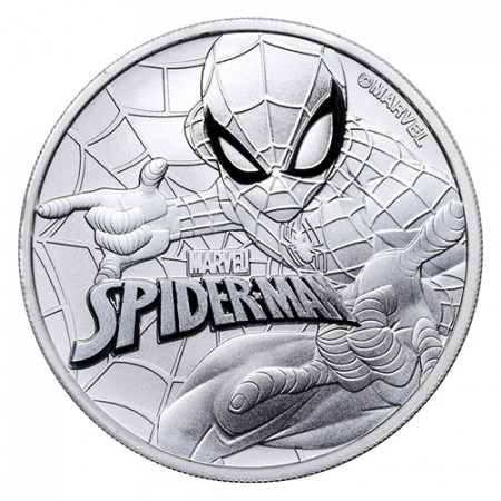"2017 * 1 Dollar Plata 1 OZ Tuvalu ""Marvel - Spiderman"" FDC"