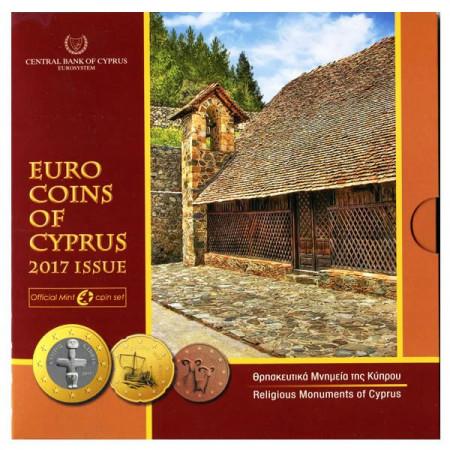 "2017 * CHIPRE Cartera Oficial Euro ""Monumentos Religiosos"" FDC"
