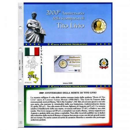 """2017 Hoya + Bolsillo 2 Euro Conmemorativo ITALIA 2017 """"2000º Aniversario Muerte Tito Livio"""" * ABAFIL"""