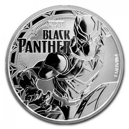 "2018 * 1 Dollar Plata 1 OZ Tuvalu ""Marvel - Black Panther"" FDC"