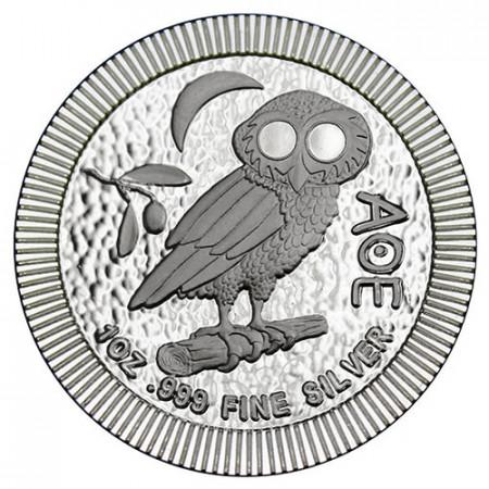 "2018 * 2 Dólars Plata 1 OZ Niue - Nueva Zelanda ""Athenian Owl"" FDC"