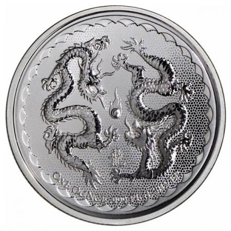 "2018 * 2 Dollars Plata 1 OZ Niue - Nueva Zelanda ""Double Dragon"" FDC"