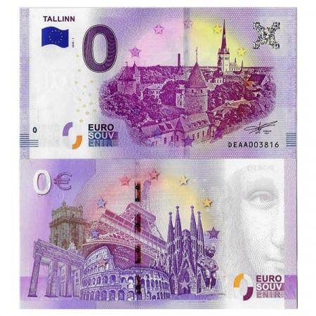 """2018-1 * Billete Souvenir Estonia Unión Europea 0 Euro """"City of Tallinn"""" SC"""