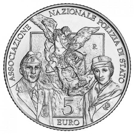 """2018 * 5 Euro ITALIA """"50° Aniversario Policía del Estado"""" FDC"""