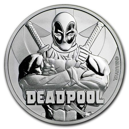 "2018 * 1 Dollar Plata 1 OZ Tuvalu ""Marvel - Deadpool"" FDC"