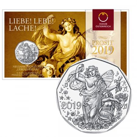 "2019 * 5 Euro Plata AUSTRIA ""New Year - Ópera Estatal de Viena"" FDC"