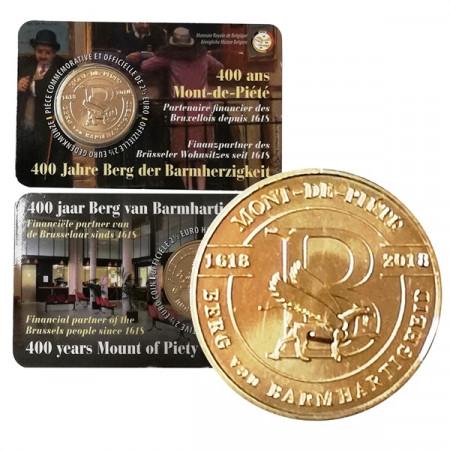 """2018 * 2,5 Euro BELGICA """"400° Aniversario de Monte de Piedad"""" Coincard"""