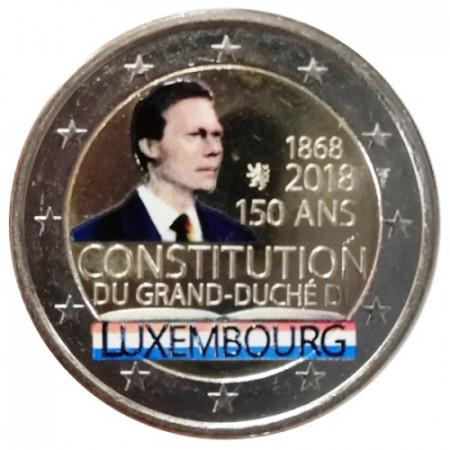 """2018 * 2 Euro LUXEMBURGO """"150 Constitución de Luxemburgo"""" Colorido"""