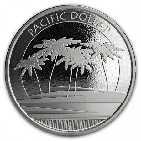 "2018 * 1 Dollar Plata 1 OZ Fiyi ""Pacific Dollar"" FDC"