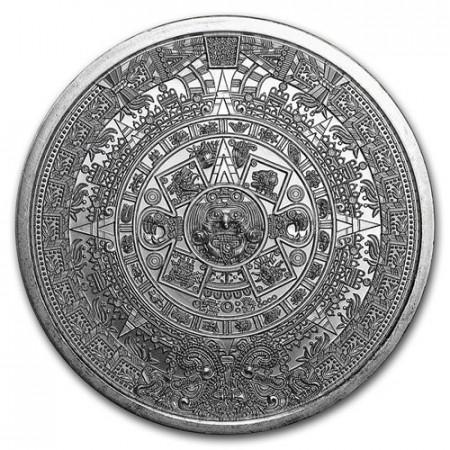 "ND (2019) * Troy Ounce  1 OZ Onza Plata ""Aztec Calendar "" FDC"