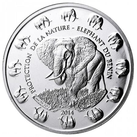 2014 * 1000 francos 1 OZ Benín Elefante Proof
