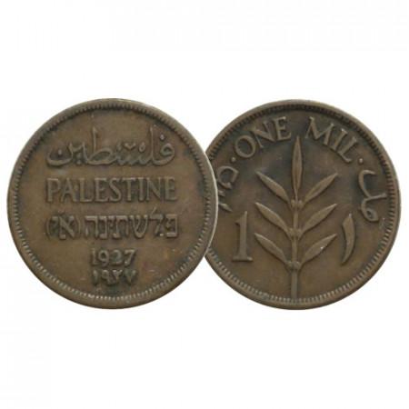 """1927 * 1 Mil Palestina """"Mandato Británico"""" (KM 1) EBC"""