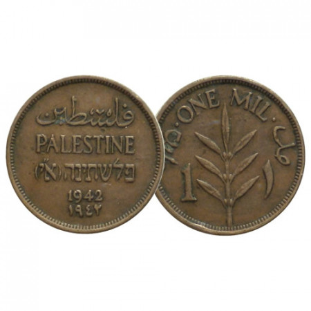 "1942 * 1 Mil Palestina ""Mandato Británico"" (KM 1) MBC"