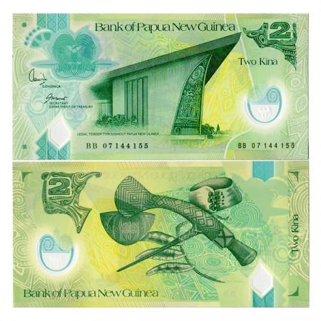ND (2007) * Billete Polímero Papúa Nueva Guinea 2 Kina (p28) SC