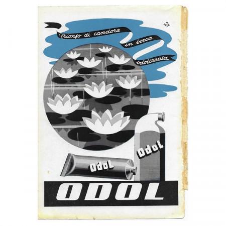"1942 * Anuncio Original Pasta Dentífrica ODOL ""Trionfo di Candore - M Duse"" Color"