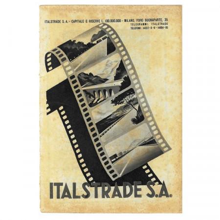 """1943 * Anuncio Original Infraestructuras """"ITALSTRADE"""" Blanco/Negro"""