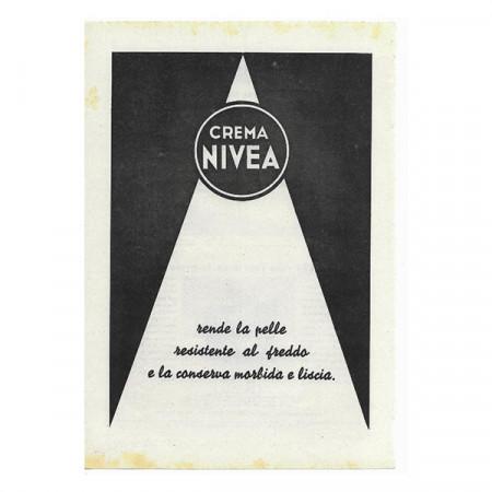 """1942 * Anuncio Original Crema """"NIVEA"""" Blanco/Negro"""