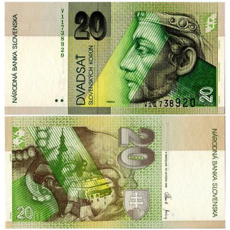 "2006 * Billete Eslovaquia 20 Korun ""Prince Pribina"" (p20g) SC"