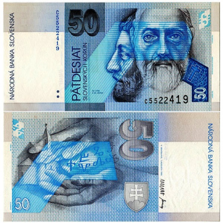 "1993 * Billete Eslovaquia 50 Korun ""St Cyril - St Method"" (p21a) SC"